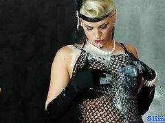 Blanche Bradburry gets strapon fucked