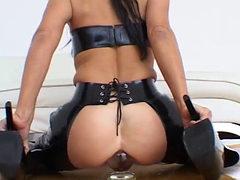 Latexangel - Extreme Latex Kink Glass Butt Plug