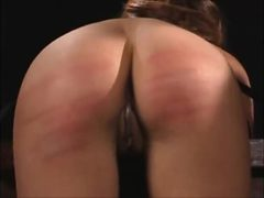 Cute girl bound and caned hard to tears