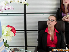 Femdom babes demand oral pleasure