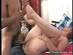 Granny gets a young black cock