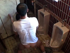 Drunken Girl In A Public Toilet In Japan