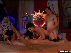 Brunette Whore In MMF Threeway