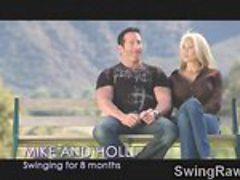 Busty MILFs enjoy some swinger sex!