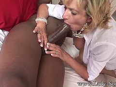 Mature Lady With Big Tits Takes Black Cock