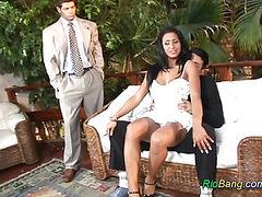 Brazilian chick gets cocks sex