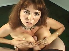Sexy MILF On Her Knees For Head