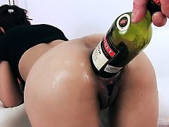EXTREME BOTTLE PENETRATION IN ASS AND PUSSY. PROLAPSE C...