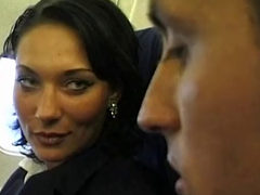 Beauty Stewardess Gets Fucked On A Plane Part 1