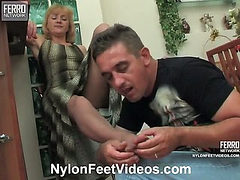 Emilia&George stunning nylon feet video