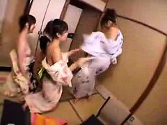 Horny Asian girls set up a lesbian encounter to explore...