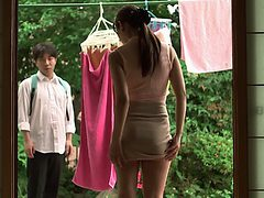 Innocent Japanese babe has to handle a hard missionary ...