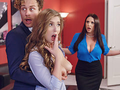 Angela White & Lena Paul & Michael Vegas in Porn Logic ...