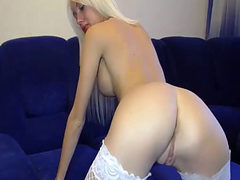 Blond Teen And Her Big Dildo