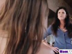 Stunning Mom India Summer Sucks Huge Dick Together With...