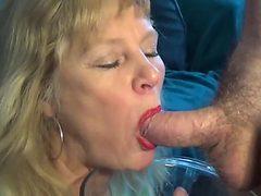 Mature loves piss and cum
