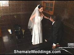 Calena leggy shemale bride
