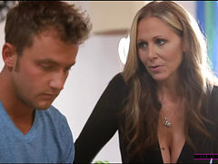 Busty Blonde Mom Seduced Her Son S Handsome Friend And ...