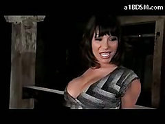 Busty Girl With Mouthgag Stripping Getting Tied Up Puss...