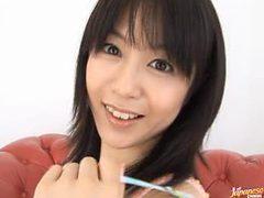 Asian Babe Nana Nanaumi Shows Her Hairy Pussy To The Ca...