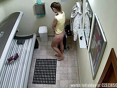 Czech Teen in Public Solarium