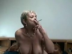 Crazy Amateur video with Grannies, Smoking scenes