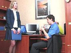 His hot secretary bends over for anal