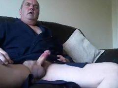 Grandpa cum on webcam 6