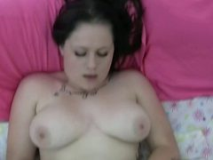 Horny Brunette With Natural Curves Loves Some Dildo Fuc...