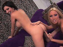 Cassie Young and Mindy Main are two horny babes eager t...