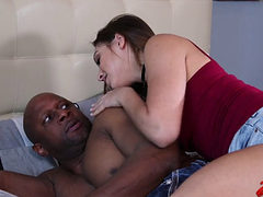 Babysitter Sara Luvv Taking Black Cock