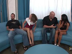 Swinger Foursome With The Slutty Babes Scarlett Fay & C...