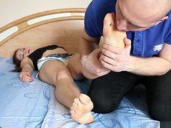 feet abused sleep