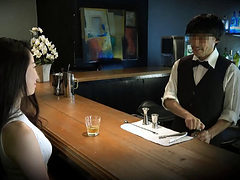 Japanese Slut Fucked At The Bar