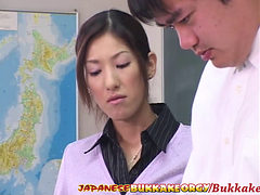 Japanese Teacher Degraded And Cum Covered By Her Studen...