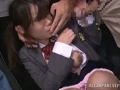 men abuse japanese schoolgirl outside
