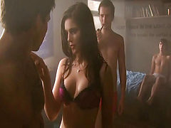 Janet Montgomery showing both breasts and bare ass duri...