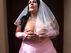The Busty Bride - Dirty Wedding Blowjob Handjob - Cum o...
