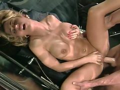 Blonde Is Fucked Hard Core In A Car