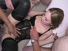 THE FIRST GANGBANG OF MY LIFE with unknown guys