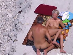 Nudist Couple Exposed By Voyeur Camera While Fucking On...