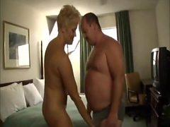 Bear fucks a woman in a hotel