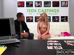 Teen slut Goldie gets a pounding