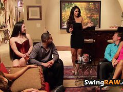 Swing couple meets and greets other horny couples