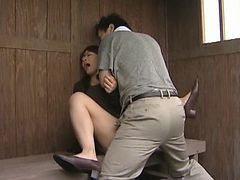 Japanese Model Fucks Outdoors In Summer