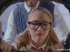 sexy schoolgirl was fucked by a strict teacher