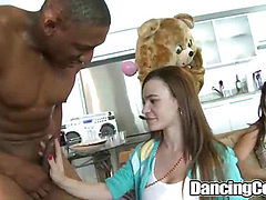 Bachelorette Loft Party on dancing cock