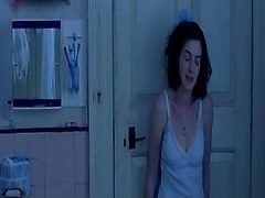 Anne Hathaway first showing cleavage in lingerie, than ...
