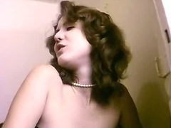 Extremely hot classic porn scene in a toilet stall
