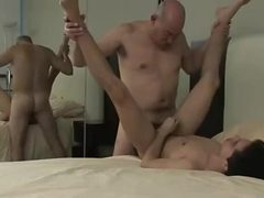 Old Grandpa has passionate sex with a much younger twink
